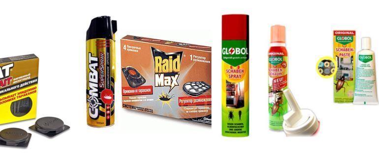 Фото магазинных средств для борьбы с тараканами